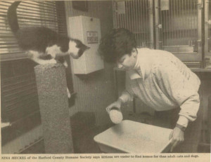 1990 Volunteer with Cats