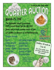 Quarter Auction The Humane Society Of Harford County